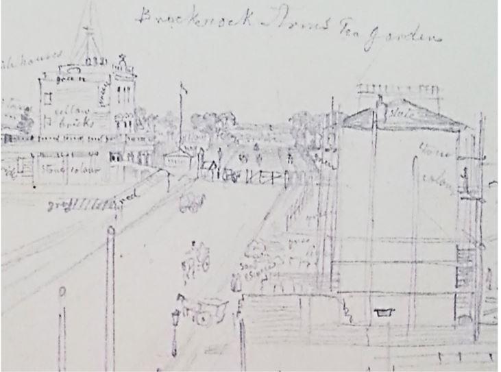 George Scharfe, Brecknock Road Tea Gardens (Courtesy, British Museum)