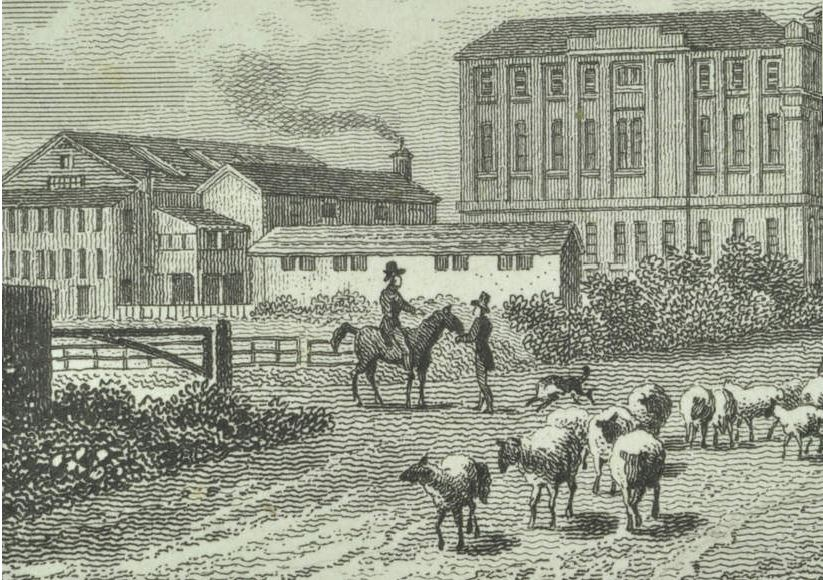 Floor cloth factory (distance) (London Metropolitan Archives)